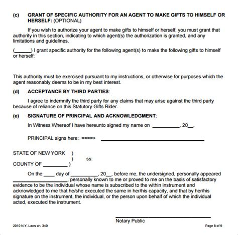 general power of attorney form 8 blank power of attorney forms sles exles