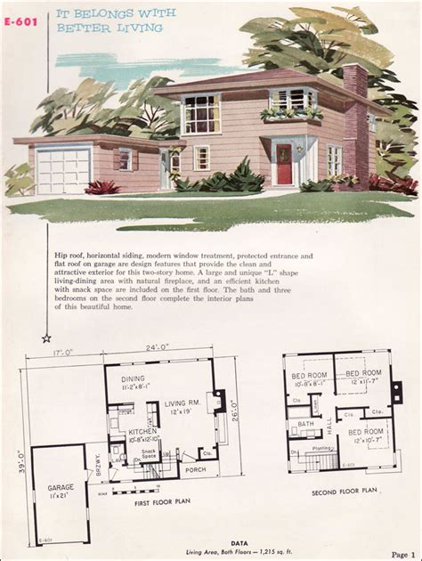 home service plans plan e 601 1955 national plan service midcentury