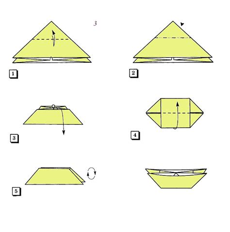 Origami Forms - the basic form quot catamaran quot