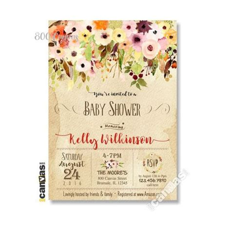 Autumn Baby Shower Invitations by Fall Autumn Baby Shower Invitation Baby Shower