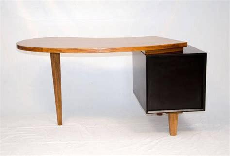 two tone organic shape desk american paul laszlo style