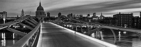 photo  st pauls millennium bridge  black  white