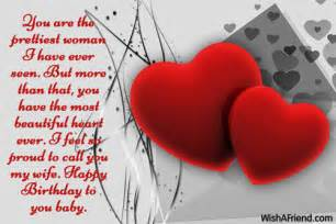 You are the prettiest woman i birthday wish for wife