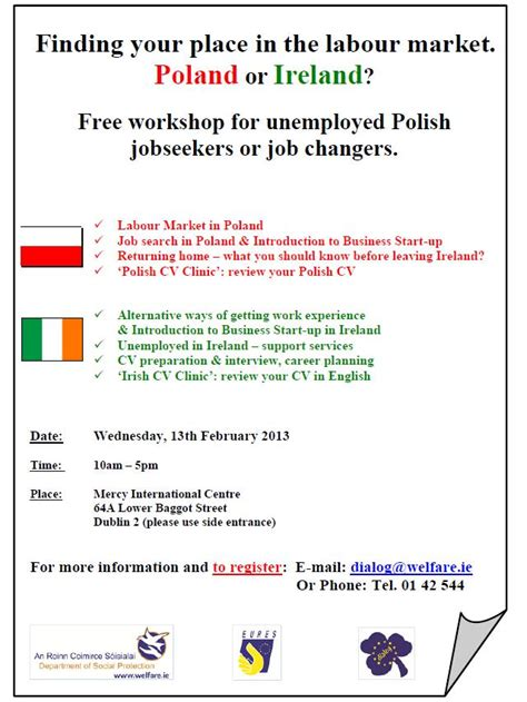 finding your place in the labour market poland or ireland