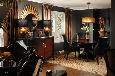 Orange Dining Room Sets by Dramatic Black Gold And Brown Rooms Youtube