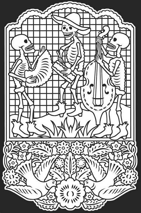 dia de los muertos couple coloring pages day of the dead cindy s notebook