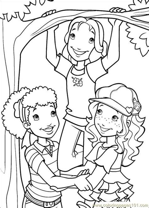 coloring pages holly hobbie 47 cartoons gt holly hobbie