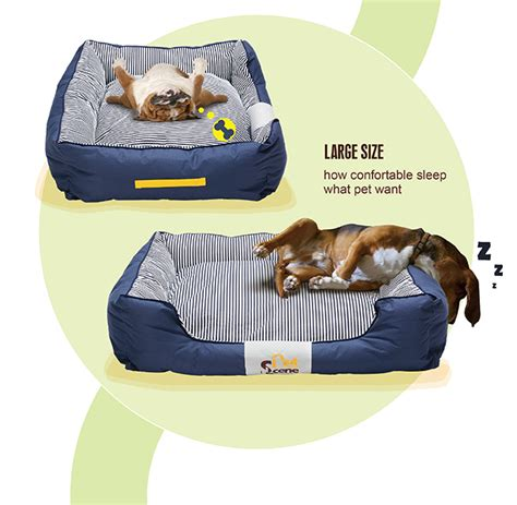 brand new waterproof washable dog pet bed pillow large pet bed mattress soft washable with blanket dog bone