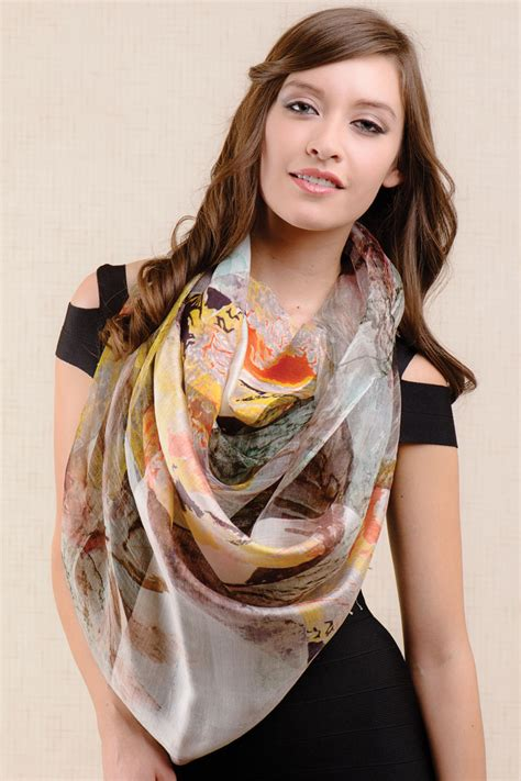 leaf print scarf sevya wholesale silk scarves collection