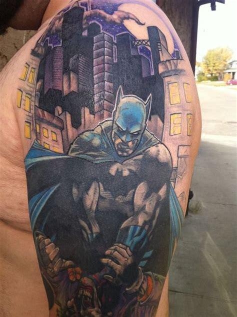 batman cover tattoo batman half sleeve tattoo picture at checkoutmyink com
