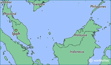 ipoh malaysia ipoh perak map worldatlascom
