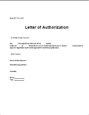 authorization letter format for personal loan closure sle authorization letter citybirds club