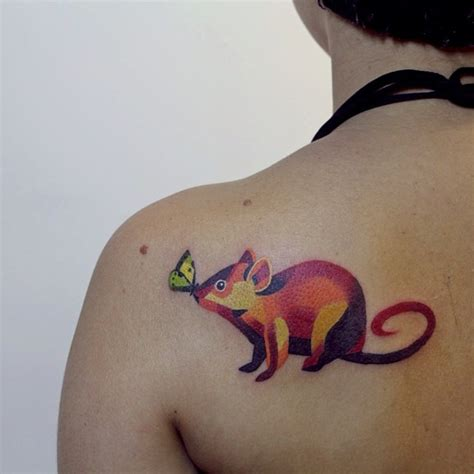 watercolor tattoo sasha unisex rat by unisex design of tattoosdesign of