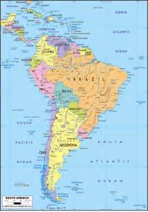 south america map images large detailed political map of south america with roads