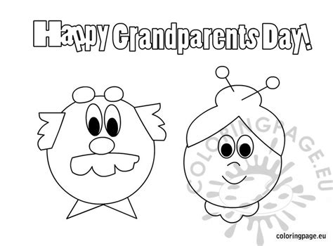 happy birthday coloring pages for grandparents happy grandparents day free coloring page