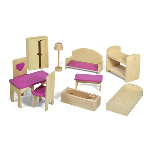doll house accesories fortune east dollhouse furniture 10 pc set toy dollhouse accessories at hayneedle