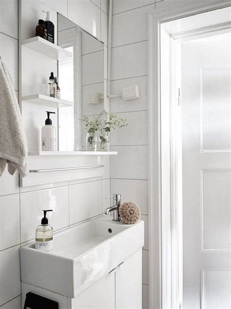 narrow sinks for small spaces narrow for a small fresh white bathroom in a swedish