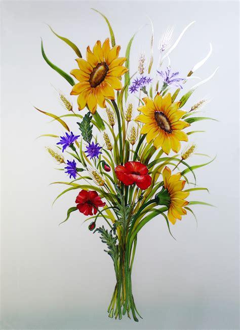 su fiori dipinti floreali