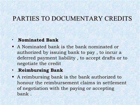 Letter Of Credit Reimbursing Bank letter of credit