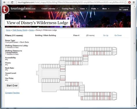 wilderness lodge floor plan your hotel room views at disney s wilderness lodge touringplans touringplans