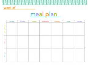 Print Plans free meal plan printable all things mamma