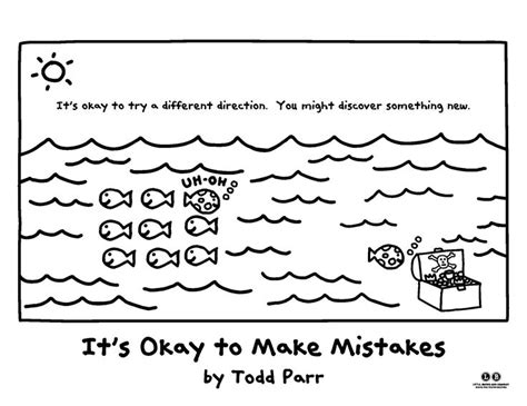 Todd Parr Coloring Pages color in your own direction it s okay to make mistakes