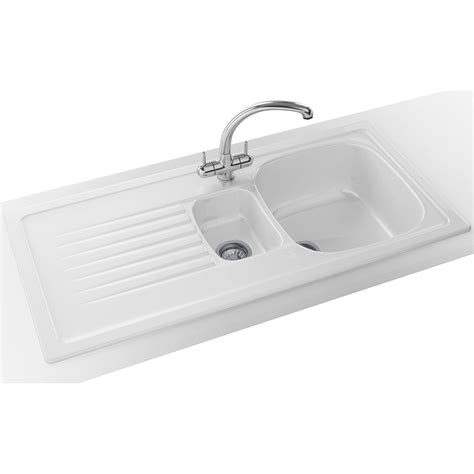 franke ceramic kitchen sinks franke elba propack elk 651 ceramic white inset sink and