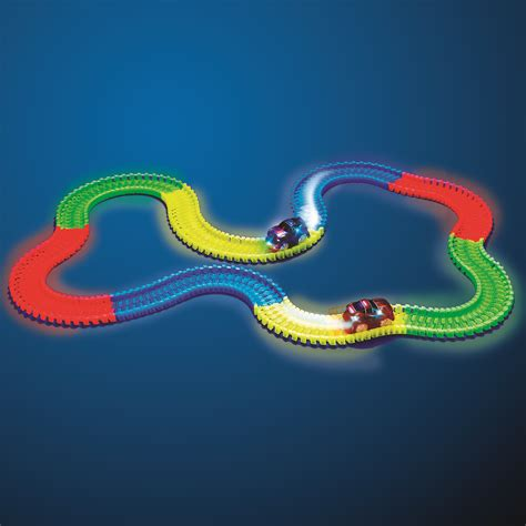 light up race track magic tracks glow in the dark red light up race car bend