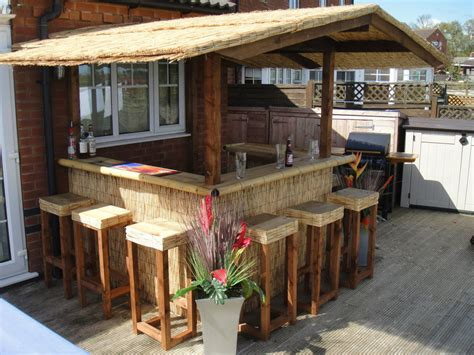 Tiki Bar Thatch Roof Outdoor Bar Home Bar Thatched Roof Tiki Bar Gazebo Pub