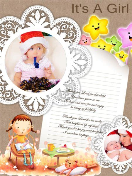 baby collage card add on templates download free