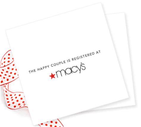 Card Avenue Gift Registry - macy s wedding registry orders