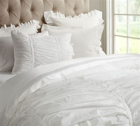 White Linen Comforter by How To Use All White Bedding