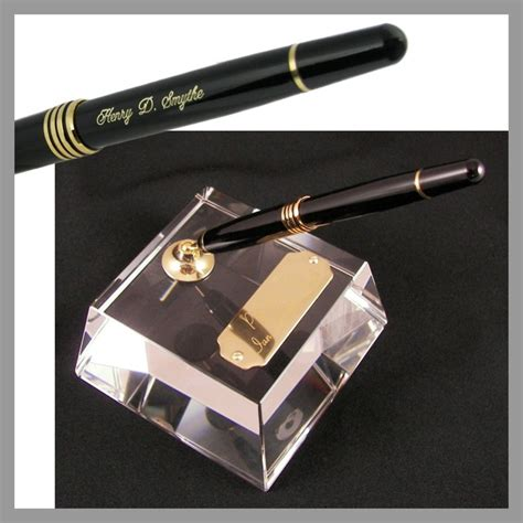 desk pen sets engraved heavy single pen engraved pen desk set the deskworks