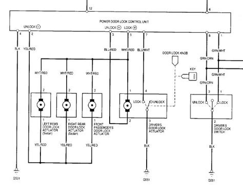 honda civic central locking wiring diagram honda