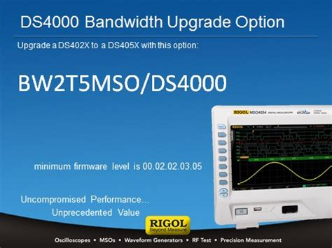 how to upgrade to bw 73 bw2t5 mso ds4000 bandwidth upgrade form 200mhz to 500mhz