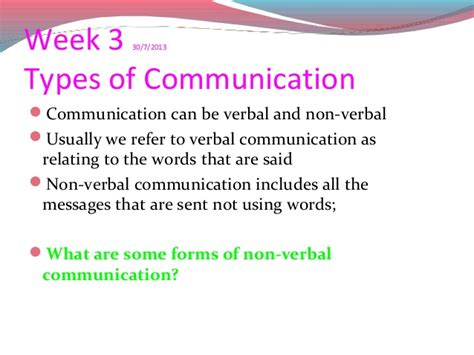 8 Non Verbal Ways Use To Express Their by Communicate Recap Wk 13
