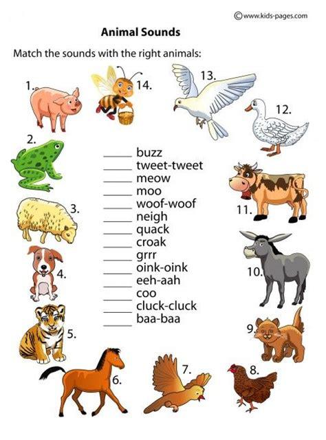 animal sounds worksheets animales weather animal