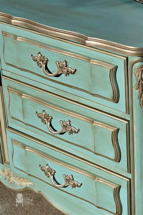 dixie french provincial dresser makeover  vintage