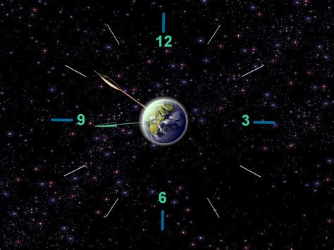 earth clock wallpaper know current time and reinforce your connection with