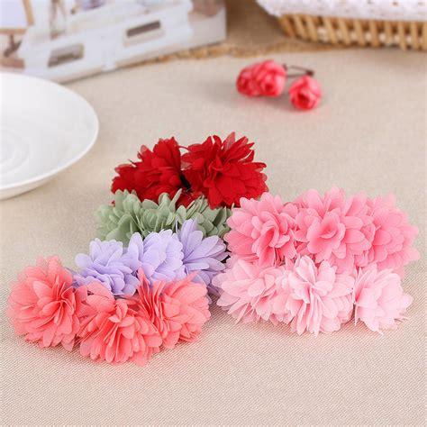 Ikat Rambut Mini Warna karet ikat rambut model flower 1pcs pink