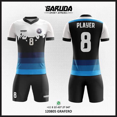 desain kaos futsal 2017 ide desain kaos futsal biru hitam menarik garuda print