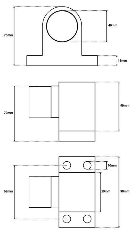 Door Stop Dimensions by Heavy Duty Sprung Door Stop Or Buffer