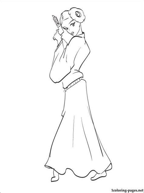 Star Wars Leia coloring page | Coloring pages