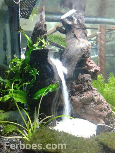 membuat air terjun pasir didalam aquarium