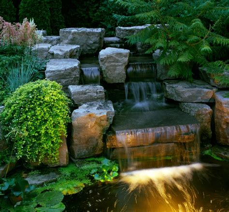 Landscape Design And Construction Waterfall Landscaping Waterfalls