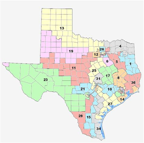 texas senate districts map texas redistricting texasgopvote
