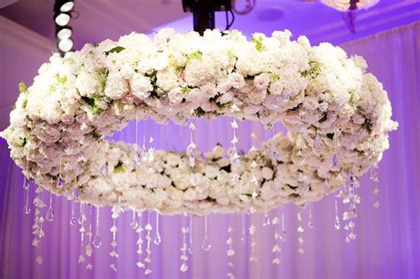 chandelier with flowers floral chandelier at wedding reception with delicate