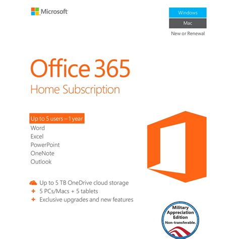 microsoft software microsoft office home subscription 29 99 aafes