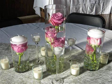 floreros dollar tree wedding receptions centerpieces submerged roses in