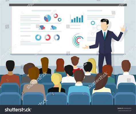 tutorial illustrator professional business seminar speaker doing presentation professional